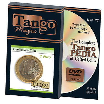 Double Sided Coin (1 Euro w/DVD) (E0026) by Tango - Trick