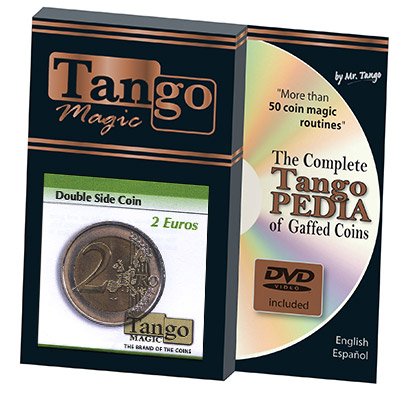 Double Sided Coin (2 Euro w/DVD) by Tango - Trick (E0027)