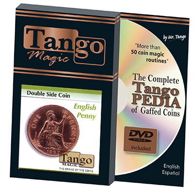 Double Side Coin English Penny (w/DVD) (D0037) by Tango-Trick