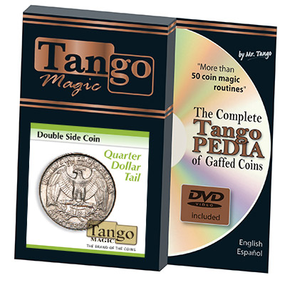 Double Side Quarter (Tails)(D0036) by Tango Magic - Trick