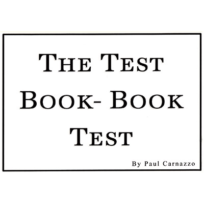 The Test Book - Book Test by Paul Carnazzo and Mental Voyage - Trick