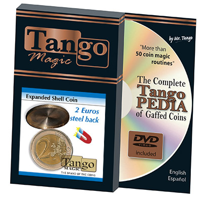 Expanded Shell Coin - (2 Euro, Steel Back) by Tango Magic - Trick (E0065)