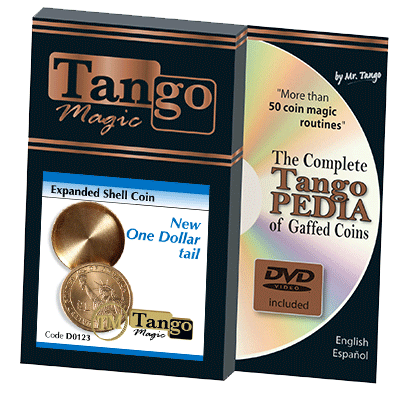 Expanded Shell New One Dollar (Tails w/DVD)(D0123) by Tango Magic