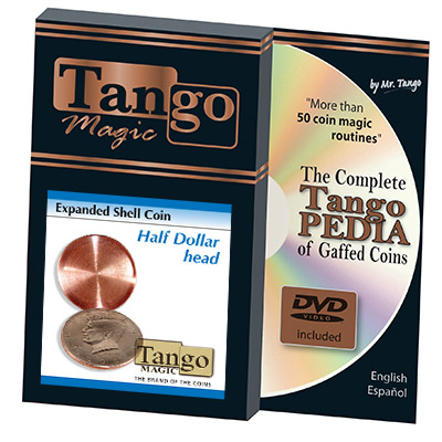 Expanded Shell Half Dollar (Head w/DVD) D0001 by Tango - Trick
