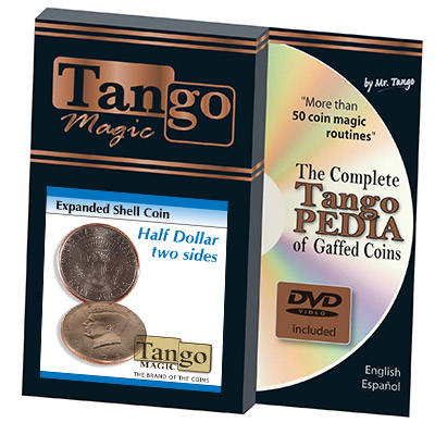 Expanded Shell Half Dollar (Two Sided w/DVD)D0006 by Tango - Trick