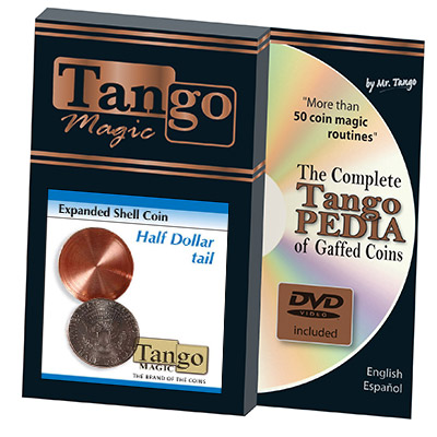 Expanded Shell Coin - Half Dollar (Tail w/DVD)(D0002) by Tango - Trick