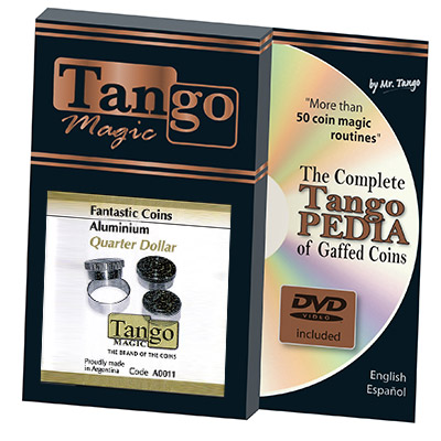 Fantasic Coins Quarter Dollar Aluminum (w/DVD)(A0011) (Made with Real Coins) by Tango-Trick