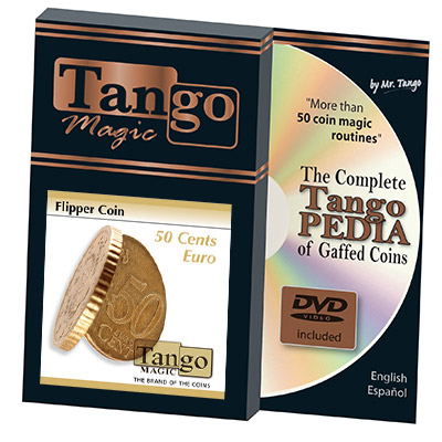 Flipper Coin 50 Cent Euro (w/DVD) (E0035) by Tango - Trick
