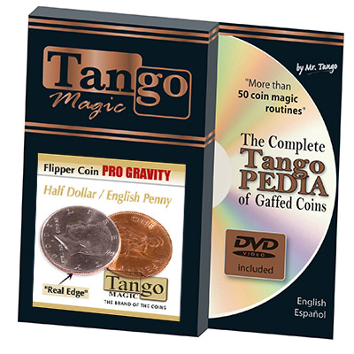 Flipper Coin PRO Gravity Half Dollar/English Penny (W/DVD) - Tango - Trick (D0101)