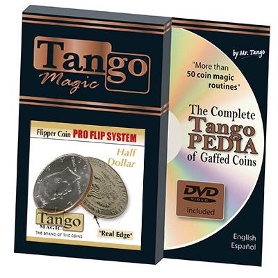 Flipper Half Dollar Pro Elastic System (w/DVD)(D0087) by Tango -Trick (D0087)