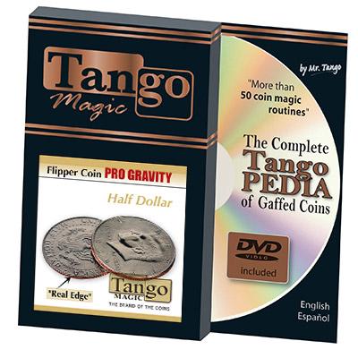 Flipper Half Dollar Pro Gravity (w/DVD)(D0089) by Tango - Trick