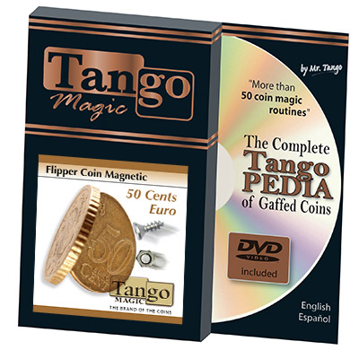 Magnetic Flipper Coin E0033 (50 Cent Euro w/DVD)by Tango- Trick