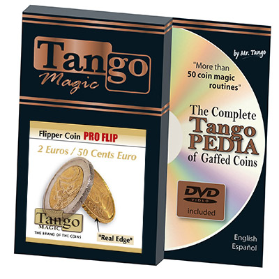 Flipper Coin Pro 2 Euro/50 cent Euro (w/DVD)by Tango -Trick (E0079)