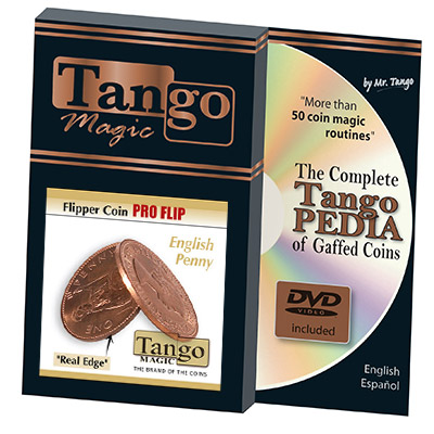 Flipper coin Pro Flip English Penny (D0102) by Tango - Trick