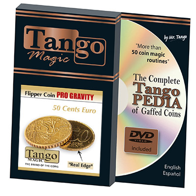 Flipper Coin Pro Gravity 50 cent Euro by (w/DVD)(E0076) Tango -Trick