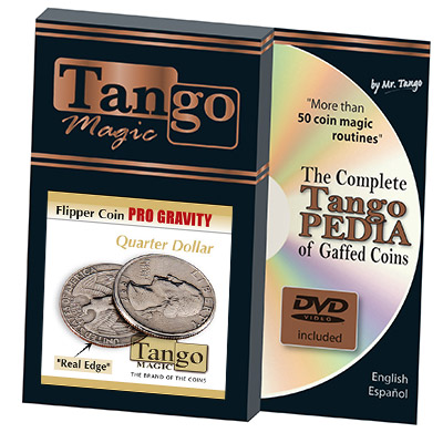 Flipper coin Pro Gravity Quarter dollar (w/DVD)(D0104)by Tango - Trick