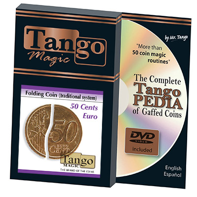 Folding 50 Cent Euro (w/DVD) (E0037) by Tango - Trick