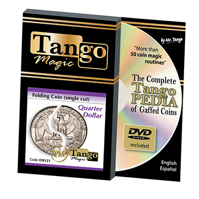 Folding Quarter dollar (Single cut w|DVD) (D0121)