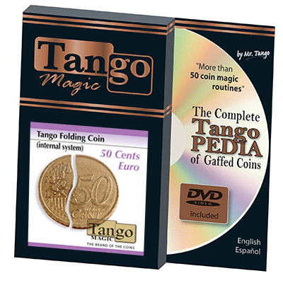 Folding Coin (E0038) (50 Cent Euro, Internal System w/DVD) by Tango - Trick