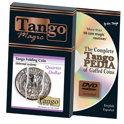 Folding Quarter Internal System (w/DVD)(D0023) by Tango - Trick (D0023)