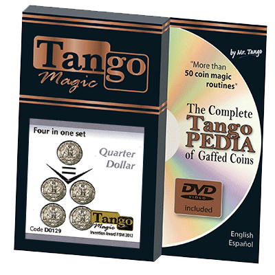 Four In One Quarter (w/DVD)(D0129) by Tango Magic - Tricks