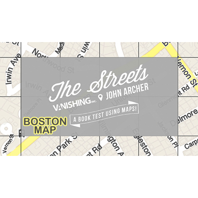 The Streets (Boston Map) by John Archer and Vanishing Inc.