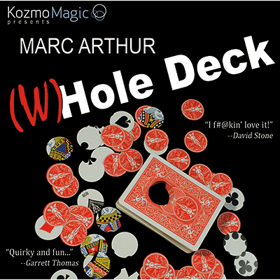 The (W)Hole Deck Blue (DVD and Gimmick) by Marc Arthur and Kozmomagic - DVD