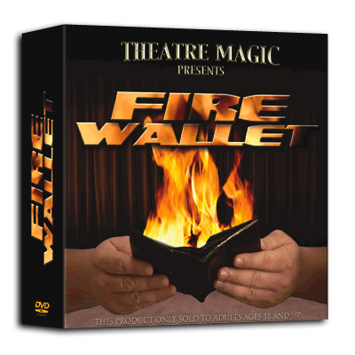 Fire Wallet 2.0 (DVD and Gimmick) by Theatre Magic - Trick
