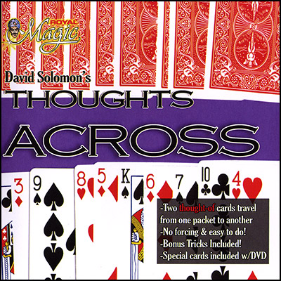 Thoughts Across  (Cards and DVD) by David Solomon - Trick