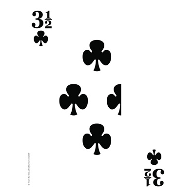 Three & a Half of Clubs Mega Card by Magical Tales - Trick