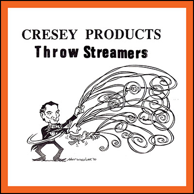 Throw Streamers (ORANGE) by Cresey - Trick