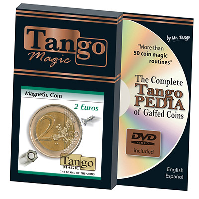Magnetic 2 Euro coin (w/DVD) E0021 by Tango - Trick
