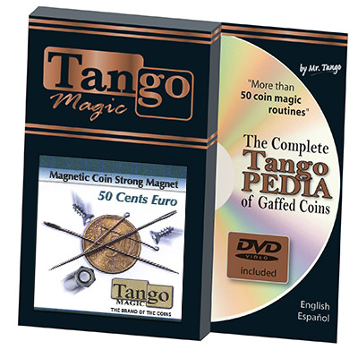 Magnetic Coin Strong Magnet 50 cents Euro (E0019) (w/DVD) by Tango - Trick