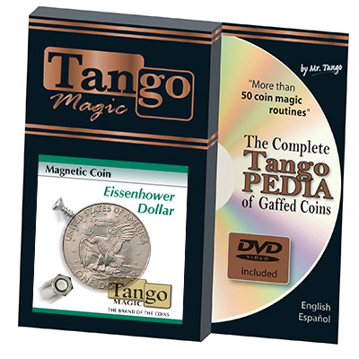 Magnetic Coin (Dollar w/DVD)D0024 by Tango - Trick