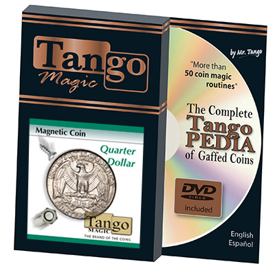 Magnetic Coin D0026(Quarter Dollar w/DVD) by Tango - Trick