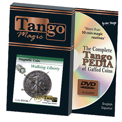 Magnetic Coin Walking Liberty (con DVD) (D0136) - Tangos