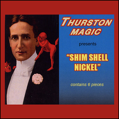 Shell Nickels with magetic Shims (6 per bag) by Thurston Magic - Trick