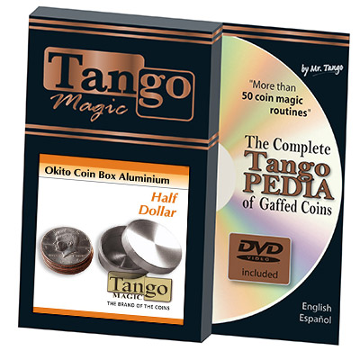 Okito Coin Box Aluminum Half Dollar (A0004)by Tango - Trick