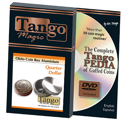 Okito Coin Box Aluminum Quarter(A0003) by Tango-Trick