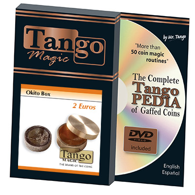 Okito Box 2 Euro (w/DVD)(B0004)by Tango Magic - Trick