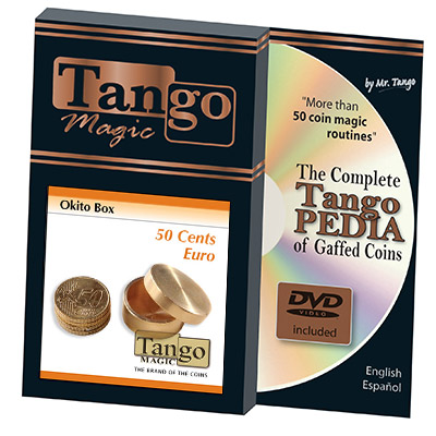 Okito Coin Box Brass 50 cent Euro by Tango -Trick (B0003)