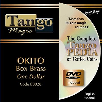 Okito Coin Box (BRASS w|DVD)(B0028) One Dollar