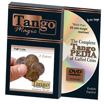 Pull Coin (2 Euro w/DVD) by Tango Magic -Trick (E0047)