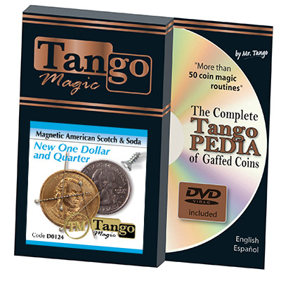American Scotch & Soda (D0124)(MAGNETIC w/DVD) by Tango Magic - Tricks