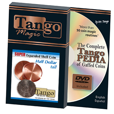 Super Expanded Shell Half Dollar tail (w/DVD) by Tango -Trick (D0082)