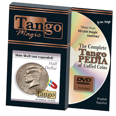 Shim Shell Half Dollar NOT Expanded (w/DVD)(D0083) by Tango - Trick