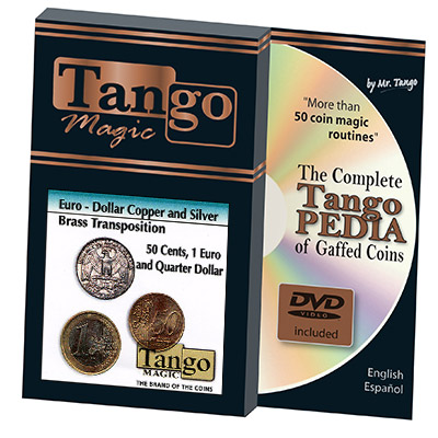 Euro-Dollar Silver/Copper/Brass Transposition (w/DVD)(ED005) by Tango- Trick