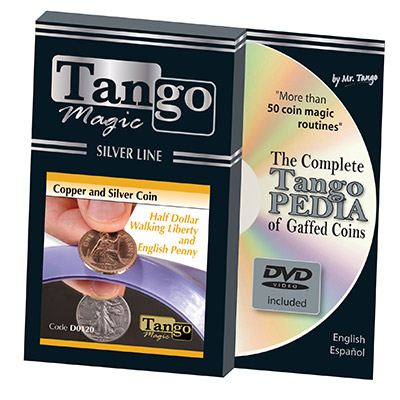 Tango Silver Line Copper and Silver Walking Liberty|English Penny (w|DVD) (D0120)