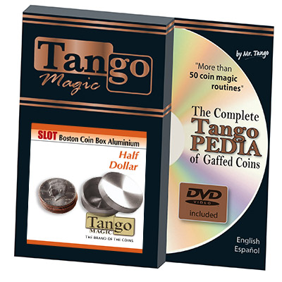 Slot Boston Box Half Dollar Aluminum (w/DVD) by Tango - Trick (A0019)