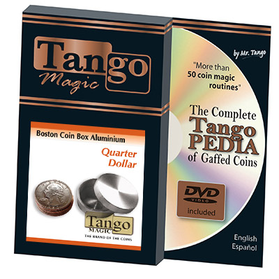 Slot Boston Box Quarter Aluminum (w/DVD) by Tango - Trick (A0018)